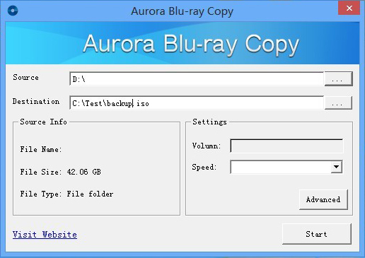 Aurora blu ray copy