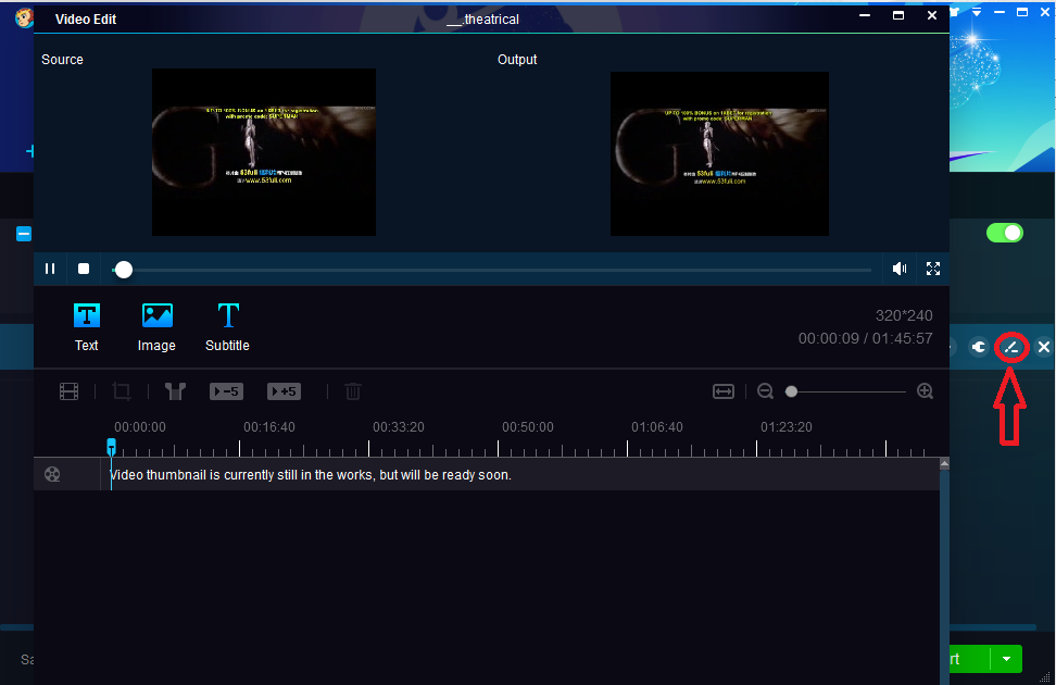 built-in video editor